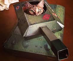 Cardboard Tank Cat Playhouse