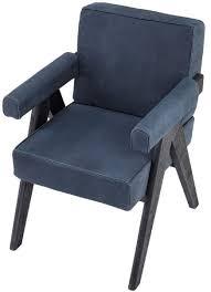 casa padrino luxus echtleder esszimmerstuhl mit armlehnen blau schwarz 64 x 70 x h 87 5 cm küchenstuhl mit edlem nubuk büffelleder luxus