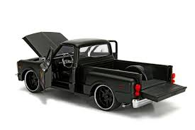 100 Nuts For Trucks 1969 Chevy C10 Pick Up Truck Primer Black Garage Logo On