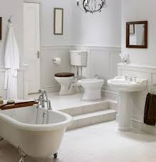 Tiling A Bathroom Floor Around A Toilet by 34 Luxury White Master Bathroom Ideas Pictures