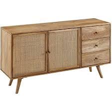 finebuy design sideboard 140x75x40 cm mango massivholz