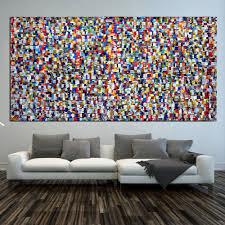 original gemälde abstrakt acryl 218 x 110 cm