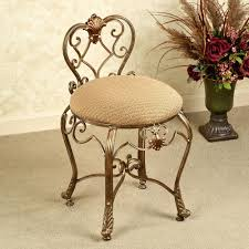 vanity chair with casters flare back powder finish vanity chair
