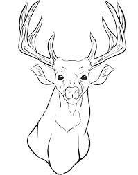Deer Head Printable Coloring Pages