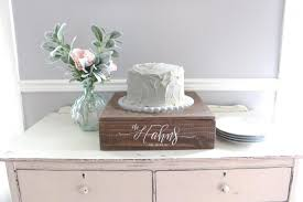 Rustic Wedding Cake Stand Wooden Decor Vintage Planter Box