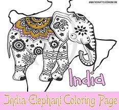 India Elephant Coloring Page