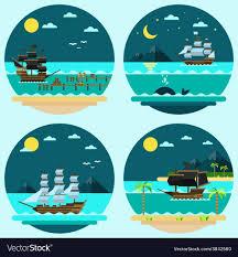 100 Design A Pirate Ship Flat Design Of Pirate Ships Sailing