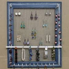 Picture Frame Jewelry Organizer Cute Earrings Diy Organization Stand