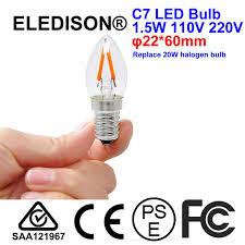 led c7 light bulb e12 e14 1 5w 110v 220v glass replace 15w mini