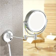 magnifying mirror with light wall mount bronze lighted makeup