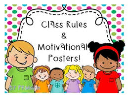 Classroom Rules Motivational Posters Cute Kids