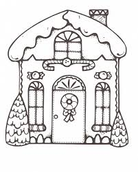 Gingerbread House Coloring Pages Free Printable