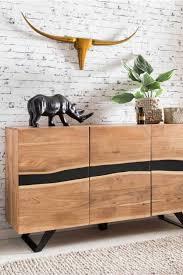 design sideboard cisanda aus akazie massivholz und schwarz