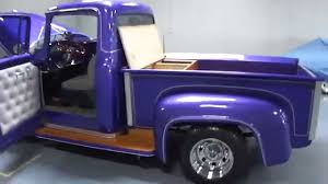 1956 Ford F100 Custom Shortbed Stepside Pickup Truck For Sale! - YouTube