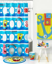 bath spongebob set sail shower curtain bathroom accessories