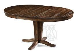 Round Extension Table Solid Acacia Wood Choose Butterfly Hardware