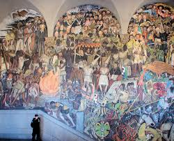 Famous Spanish Mural Artists by The National Palace Or Palacio Nacional Diego Rivera Murals
