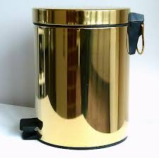 design badezimmer abfalleimer aus metall 5 liter inhalt mülleimer gold