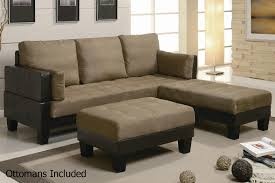 Poundex Bobkona Sectional Sofaottoman by Brown Leather Sectional Sofa Roselawnlutheran