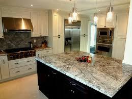 Antique White Kitchen Cabinets With Dark Wood Floors Black Granite