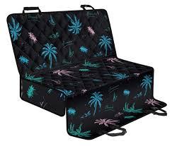 Palm Tree Summer Beach Pattern Print Pet Car Back Seat Cover ...