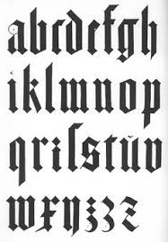 Blackletter Modern Textura Creative Typography