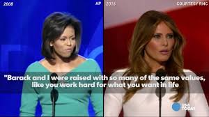 Michelle Obama Empty Chair by See Melania Trump Michelle Obama U0027s Speeches Side By Side Youtube