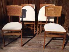 Stakmore Folding Chairs Amazon by 4 Vintage 1950 U0027s Stakmore Cane Back Mid Century Folding Wood