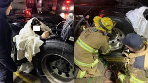 100 Truck Tire Service Near Me Livonia Plymouth Firefighters Extract Man Trapped Between 2
