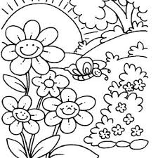 Free Printable Spring Coloring Pages For Kindergarten Kids Educations Butterfly Flower Rainbow