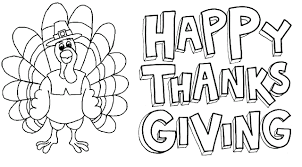 Printable Free Thanksgiving Coloring Pages Happy