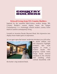 100 Wacountrybuilders Modern Country Homes By Wacountrybuilders Issuu