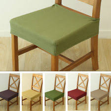 2PCS Dining Chair Seat Covers Stretch Cover Protector Replacement