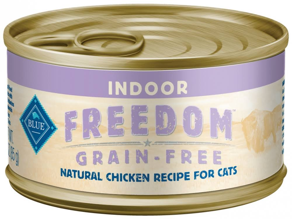 Blue Buffalo Freedom Indoor Chicken Canned Cat Food 12.5oz, Case of 12
