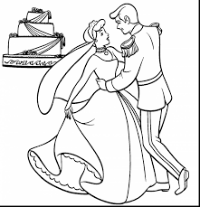 Astounding Disney Wedding Coloring Pages With Cinderella Page