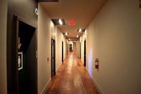 apartment building hallway year of the pig studio and