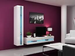 Anbauwand Wohnzimmer Mã Bel Wohnwand Vigo New8 Anbauwand Wohnzimmer Möbel Hochglanz Mit Led Beleuchtung