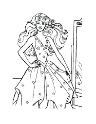 Princess Barbie Coloring Pages Print Bodycon Dress Free Printable Activities Pegasus Full Size