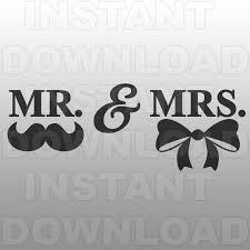 Wedding SVG FileMr Mrs File Cutting Template Vector Clip Art For Commercial Personal Use CricutCameoSilhouetteVinyl From Sammo On Etsy Studio