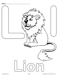 Uppercase And Lowercase Letter Ll Coloring Page