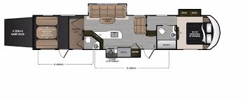 2016 5th Wheel Toy Hauler Floor Plans by Voltage Rv Floorplans And Pictures