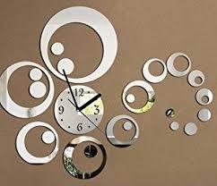 uraqt 3d modern wanduhr acryl diy kreatives design groß