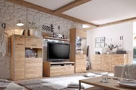 wohnzimmer esma 31 eiche bianco 5 teilig wohnwand beleuchtung