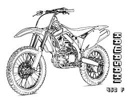 Dirt Bike Colouring Pages To Print