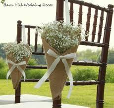 Wedding Pew Cones Burlap Church Decorations Rustic Flower Holders By BarnHillWeddingDecor On Etsy
