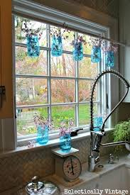 Mason Jar Window Treatments Kitchen Decor Set Decorating With Jars