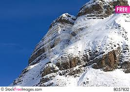 Snow Covered Cliff Face