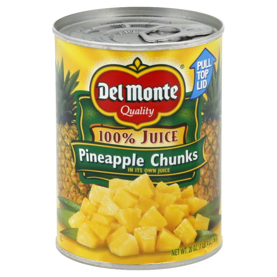 Del Monte Pineapple Chunks, in its Own Juice - 20 oz