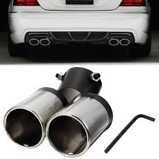 Buy UNIVERSAL Twin Double Dual Chrome Exhaust Pipe Trim Tip Tail ... Best Chrome Exhaust Tips For Trucks Amazoncom My Truck Rolling Coal 12in Diesel Tip Youtube Patriot Exhaust H7321 Street Rod Megaphone Tip Chrome Pilot Automotive Ex1024 Omega Black Walmartcom Awe Tuning C7 Audi S7 40t Track System Car Auto Ppipe Grilled Shark Fin Stainless Steel Muffler Dual Round Double Wall Forward Slash Cut Tips Assured Company Blog 47784 Monster Single Exit Use With Mustang 212 Turndowns Restoparts Chevelle 196972 Oval Opgicom