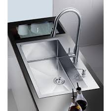 Overstock Stainless Steel Kitchen Sinks by Nationalware 33 Inch Satin Stainless Steel Overmount Single Bowl